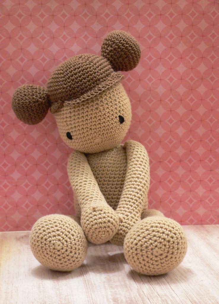 szydelkowa lala bobas crochet baby doll