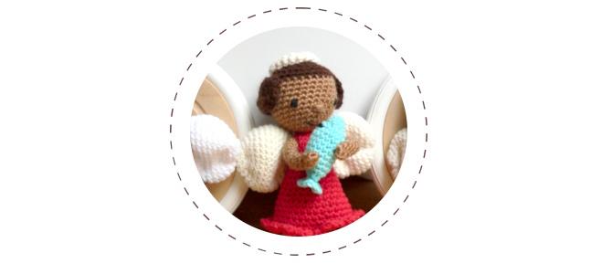 Szydełkowe lalki – aniołki Gabriel, Rafał i Michał