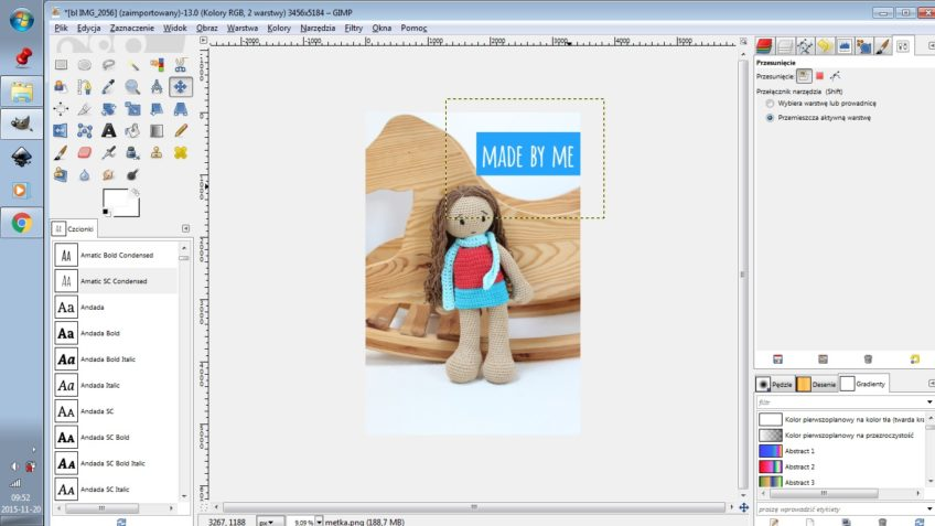 Jak zrobić metkę z nazwą bloga na zdjęcie?