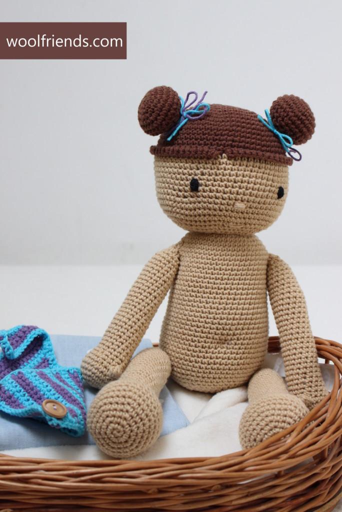 szydelkowa lalka niemowlak