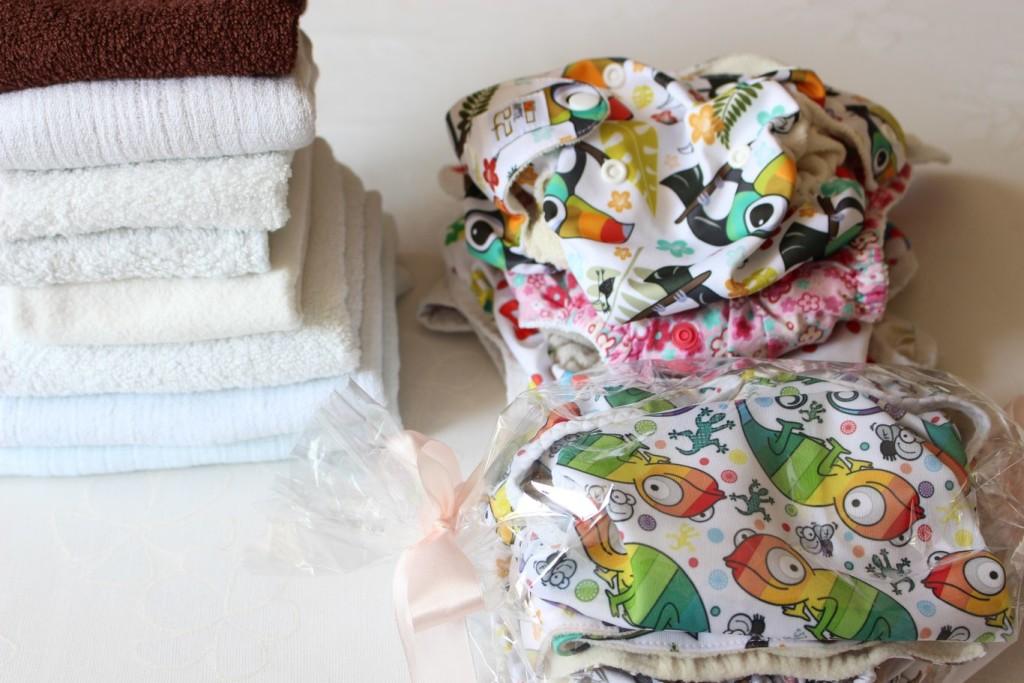 Dzien w zdjeciach godz 11 dalszy ciag prania i skladania - pieluchy