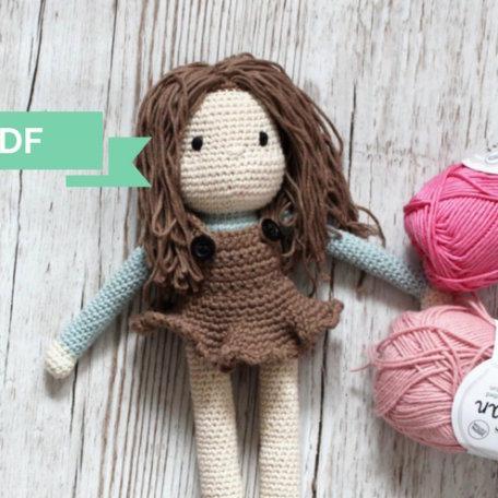 szydelkowa lalka Lula 1 na blog