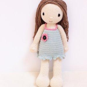 Lalka mała Emi w miętowej sukience