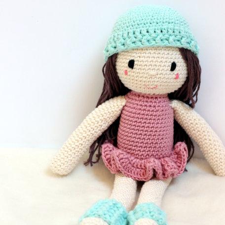 crochet doll mint details